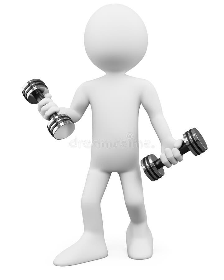 3d健身人 向量例证