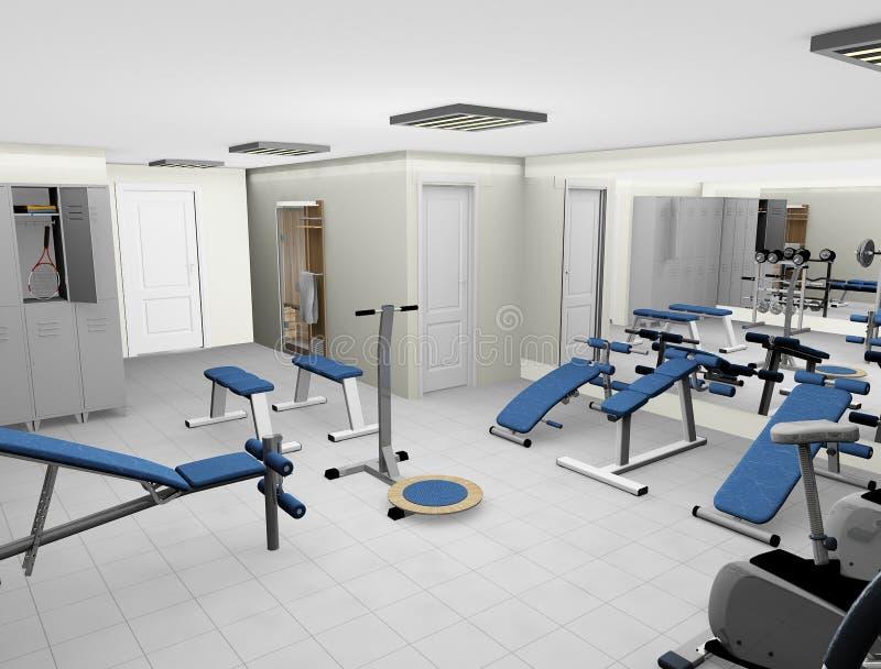 3d健身现代空间 免版税库存照片