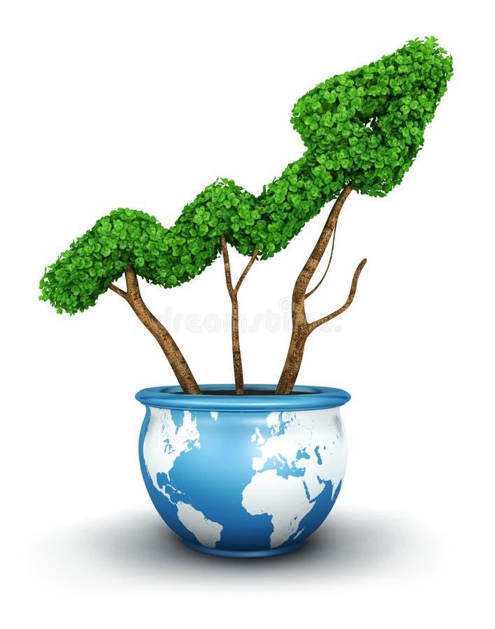 3d全球增长 向量例证