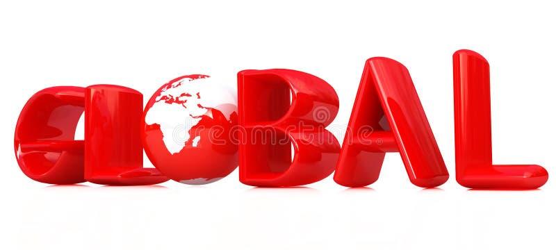 3d全球文本 向量例证