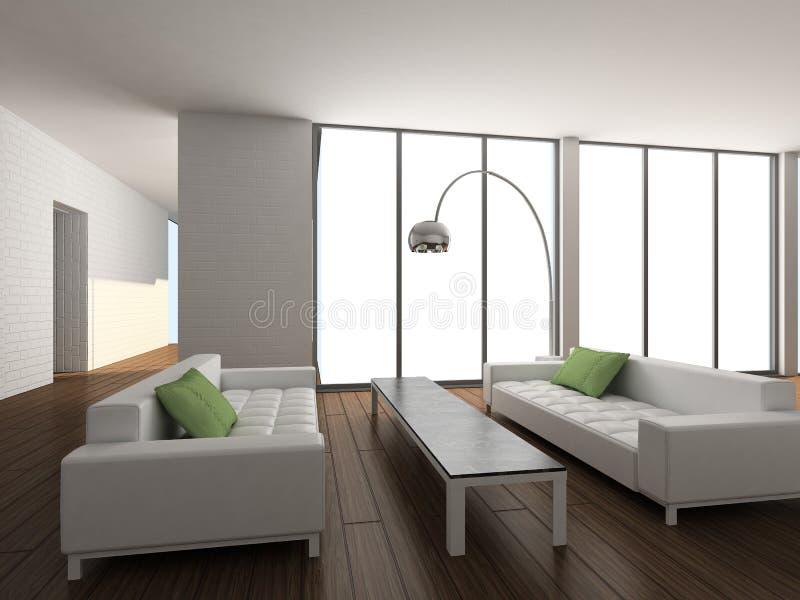 3d内部居住现代回报空间 向量例证