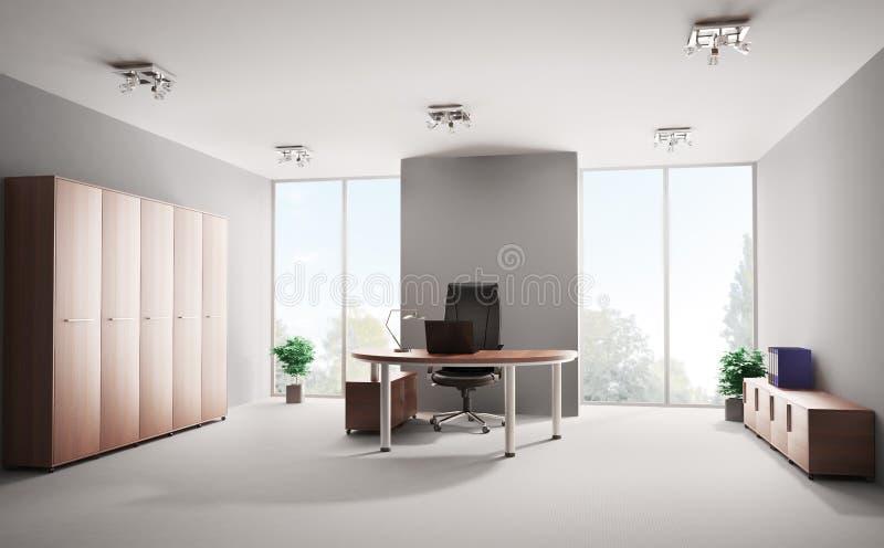 3d内部现代办公室 库存例证