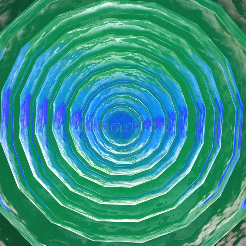 3d冰表面绿松石 皇族释放例证