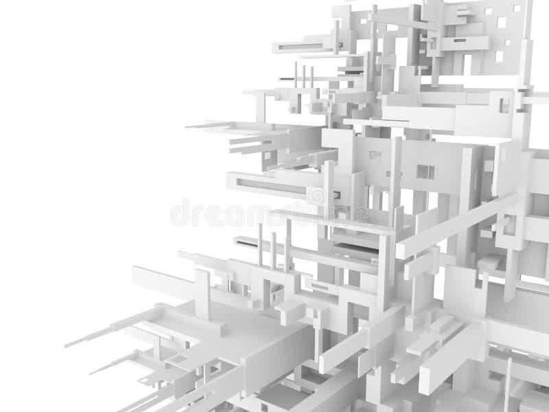 3d几何抽象的背景 库存图片