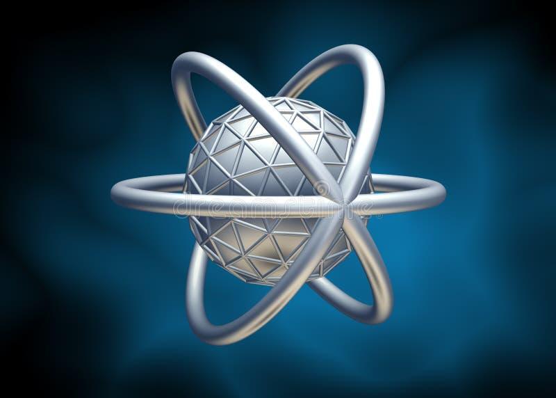 3d分子 库存例证