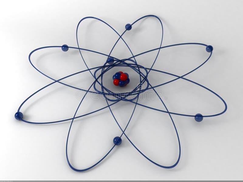 3d分子 向量例证