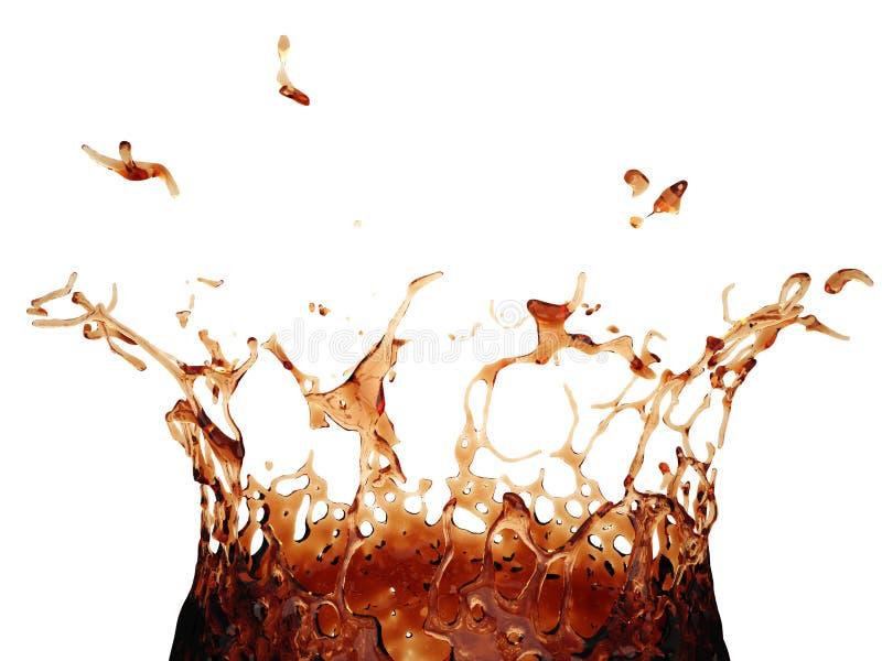 3d可口可乐飞溅 皇族释放例证