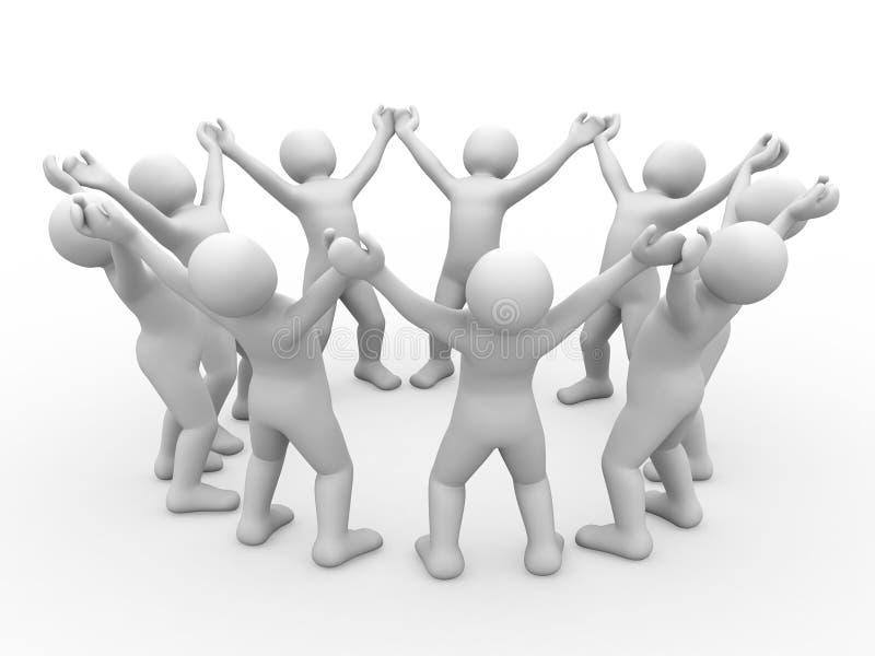 3d合作伙伴人 向量例证