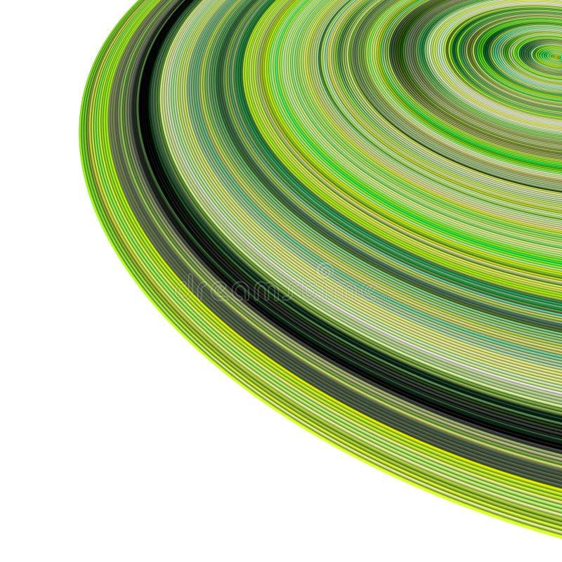 3d同心绿色多个管道 库存例证