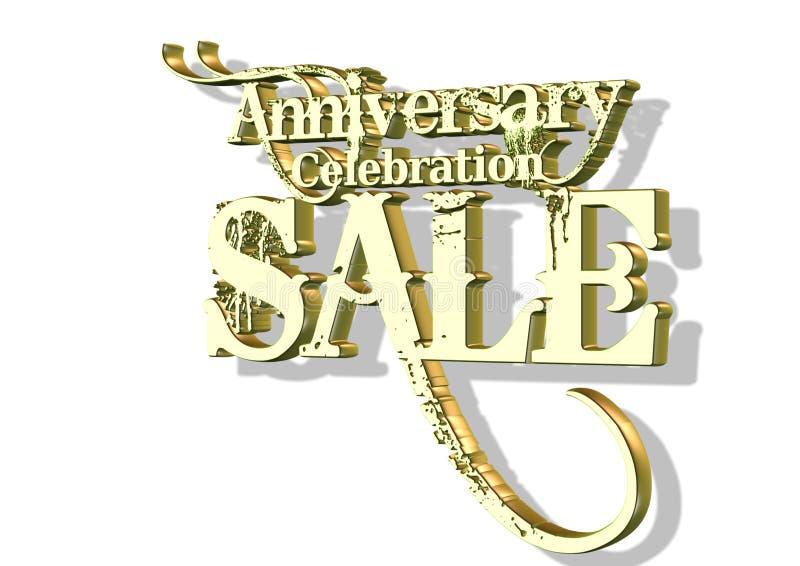 3d周年纪念庆祝销售额 向量例证