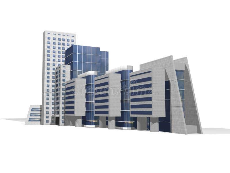 3d商务中心 向量例证