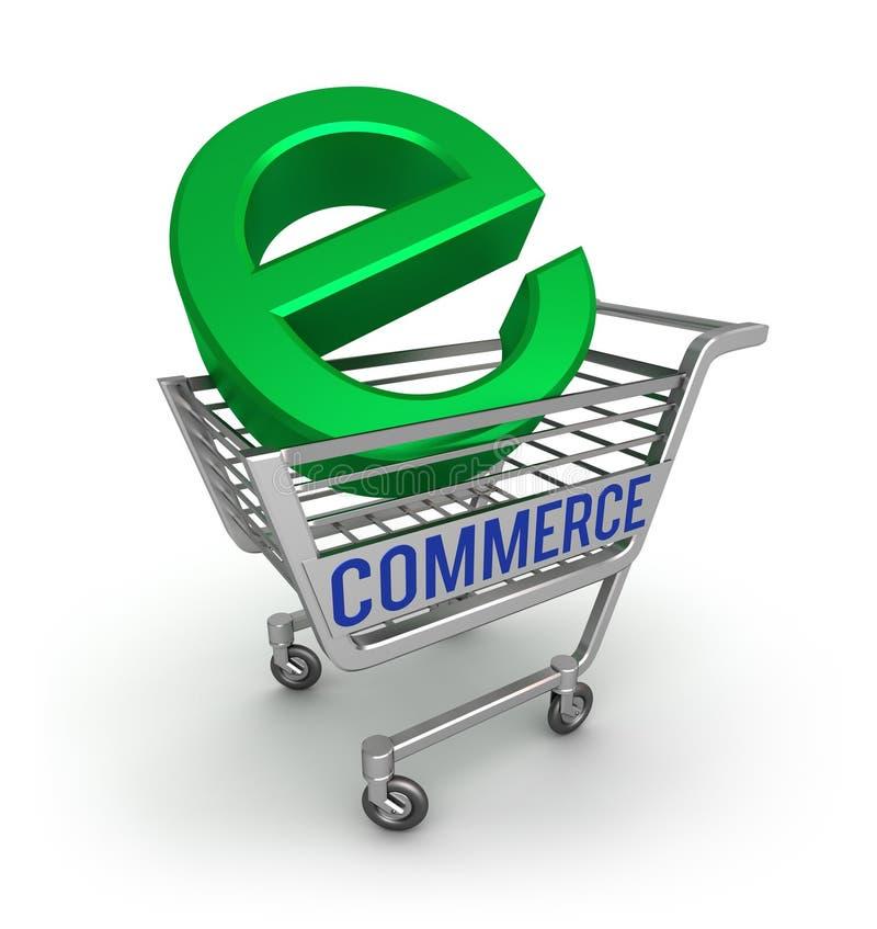 3d商务e图标 库存例证