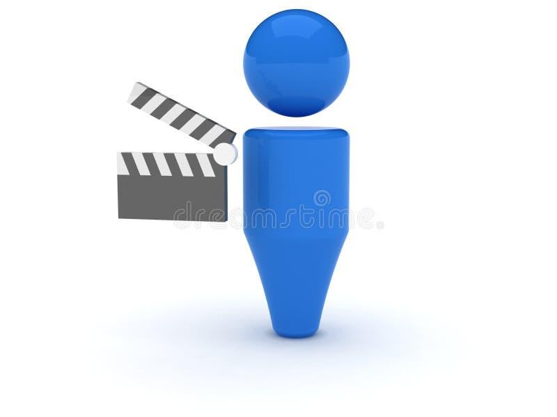 3d图标录影万维网 库存例证