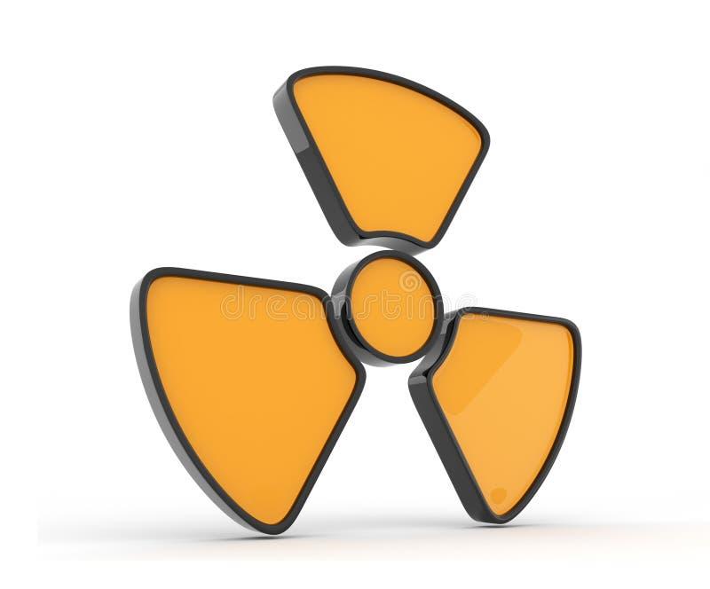 3d图标查出的辐射符号 向量例证