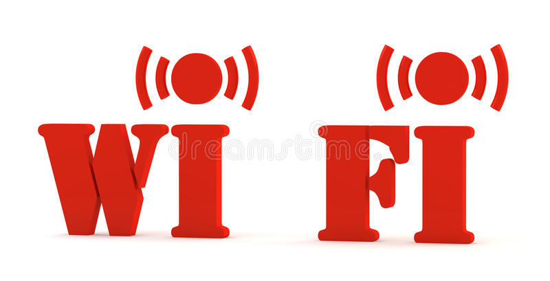 3d图标wifi 向量例证