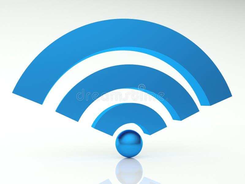 3d图标wifi 库存例证