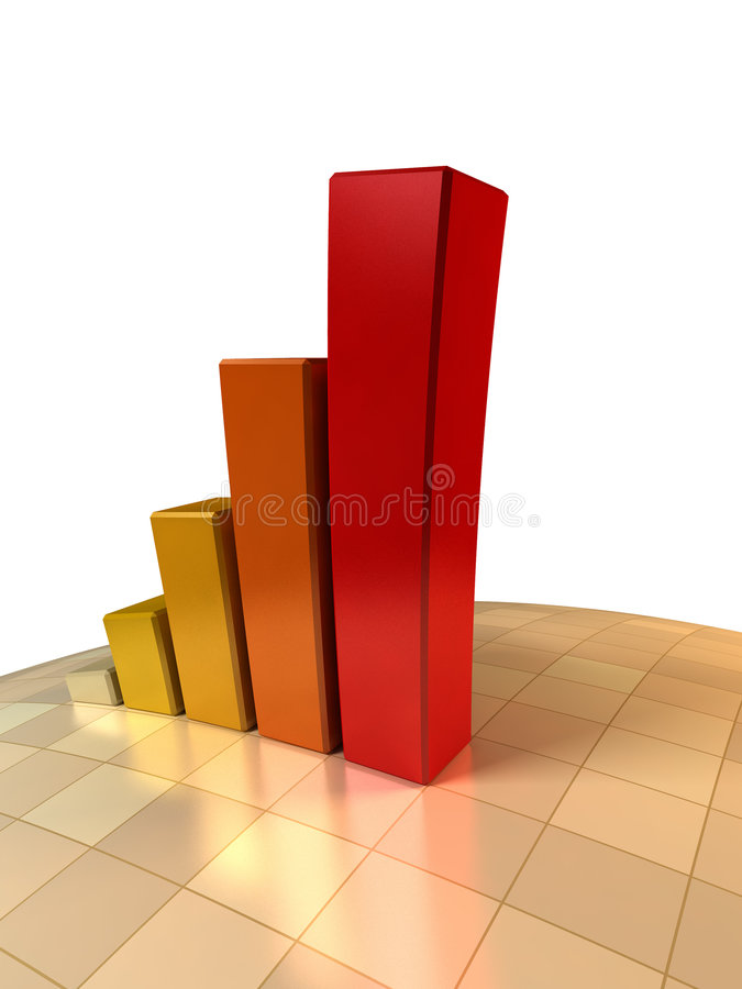 3d图表增长 皇族释放例证