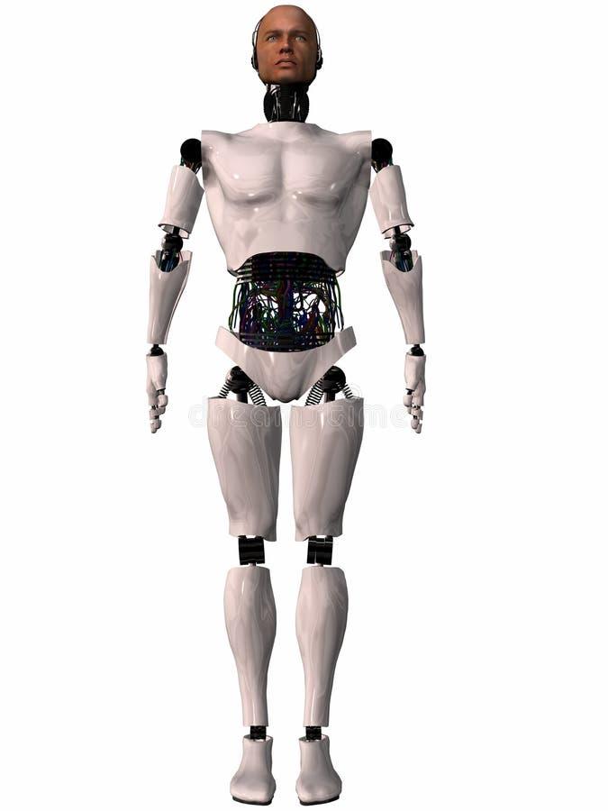 3d图herobot 向量例证