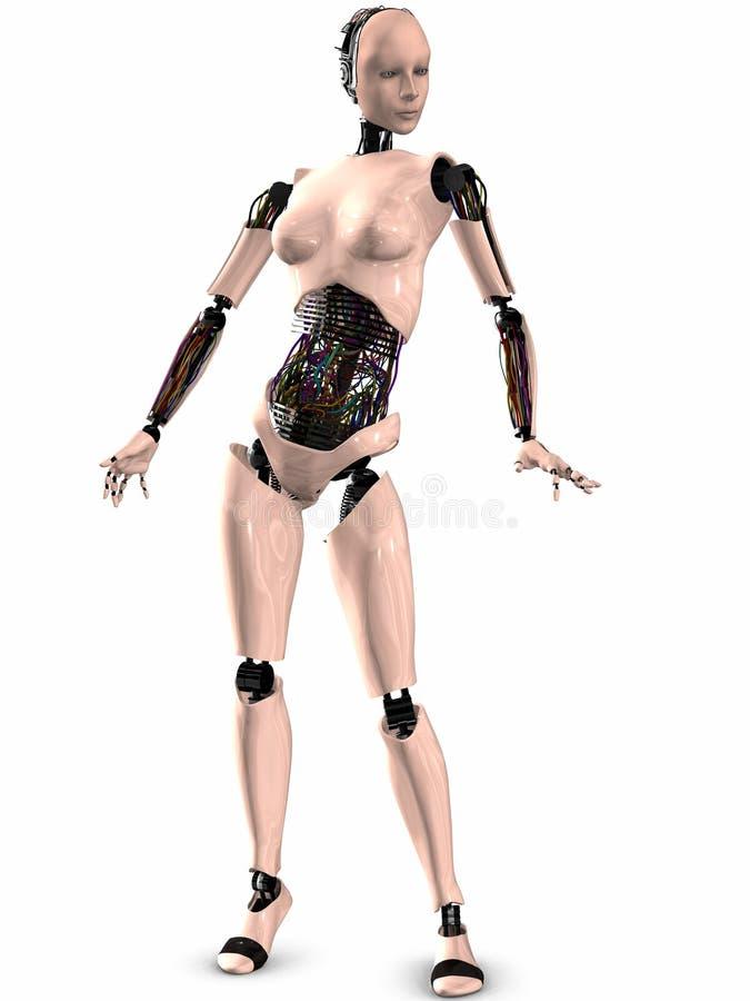 3d图sherobot 向量例证