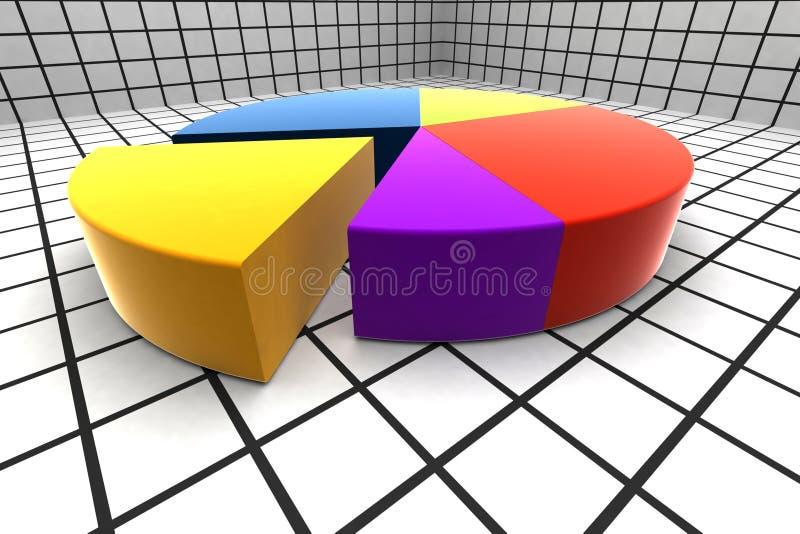 3d圈子绘制 库存例证