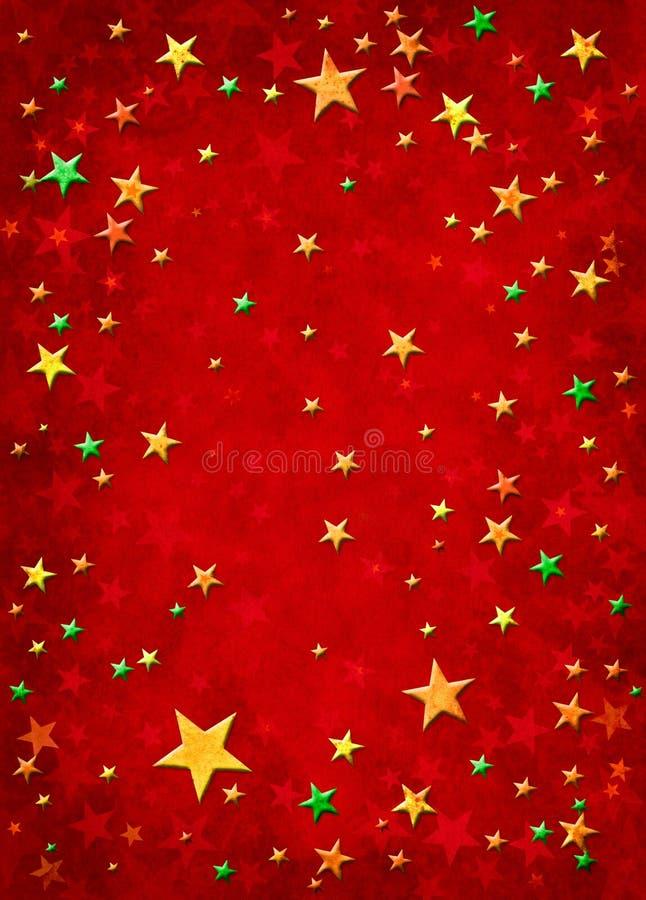 3d圣诞节星形 库存例证