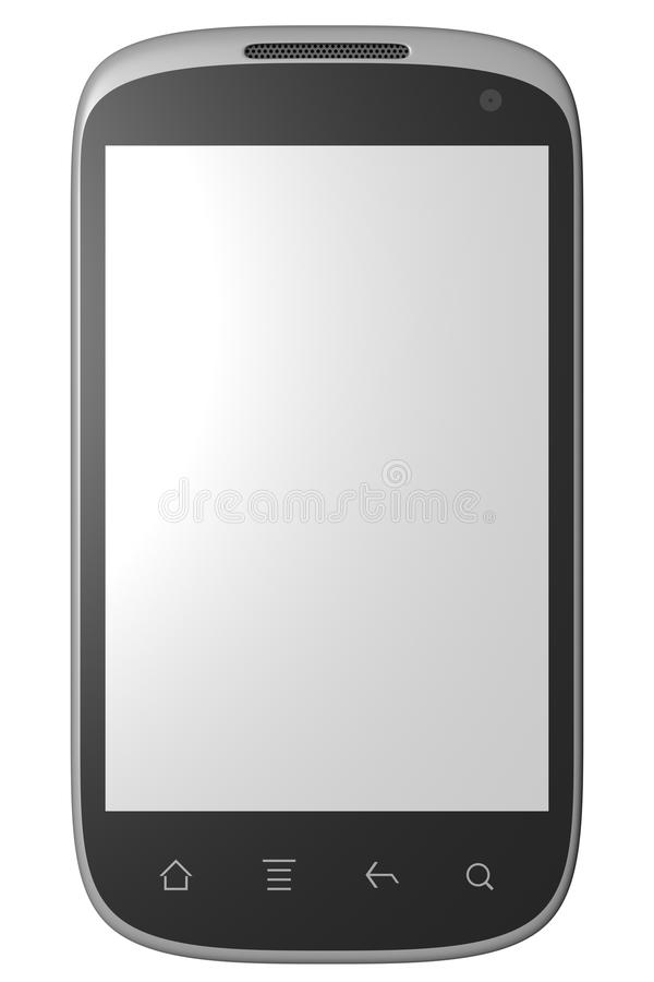 3d在白色查出的巧妙的电话设计 库存例证