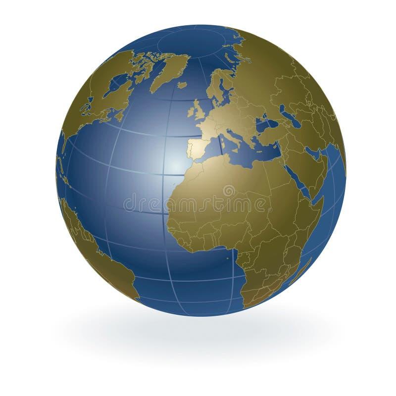 3d地球向量 皇族释放例证