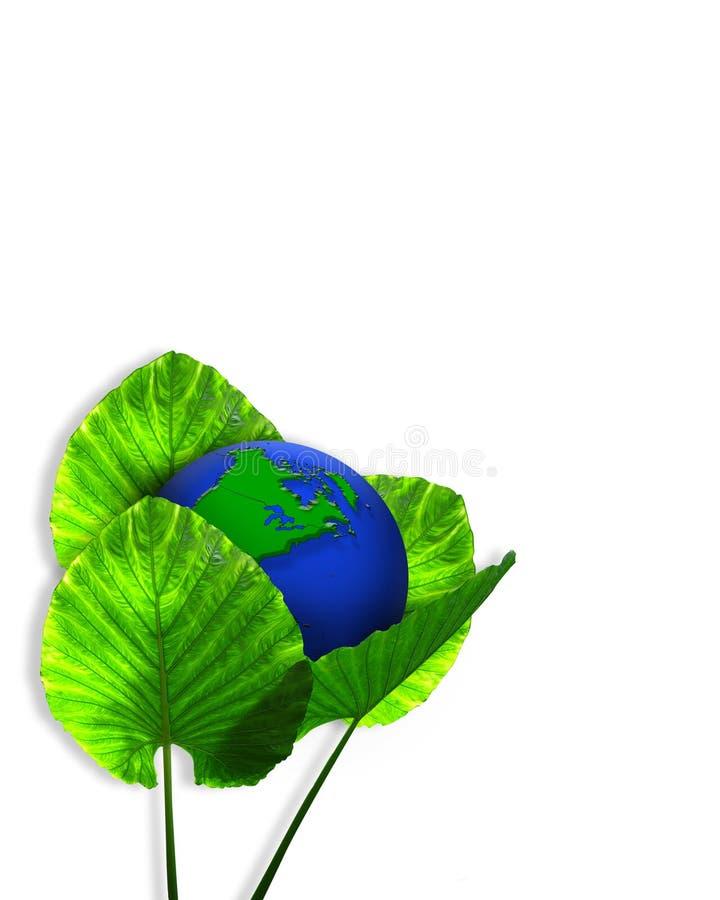 3d地球生态图象绿色 库存例证