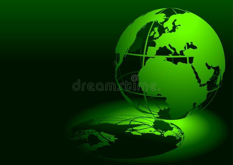 3d地球绿色 皇族释放例证
