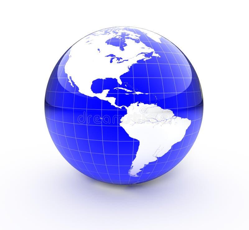 3d地球 向量例证