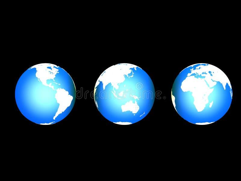 3d地球 库存例证