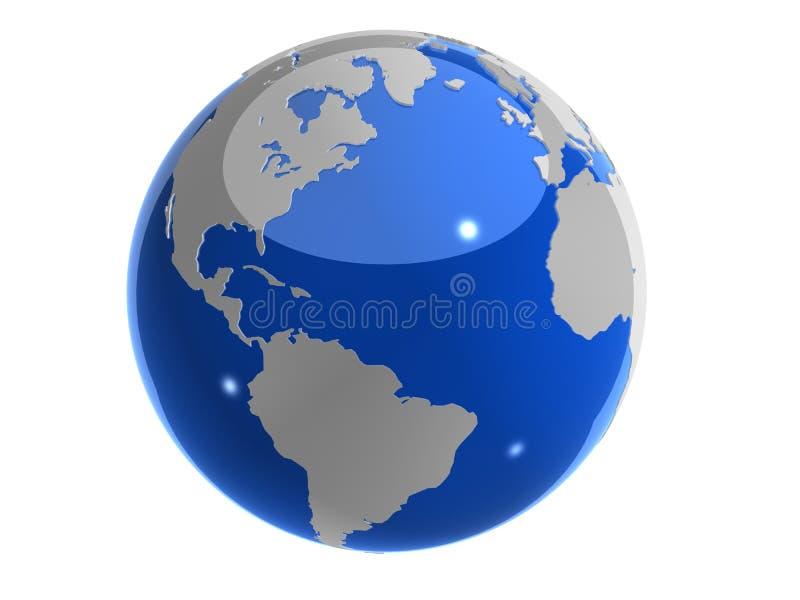 3d地球 皇族释放例证