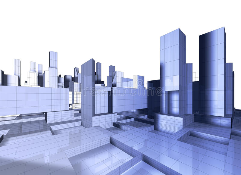 3d城市映射 向量例证