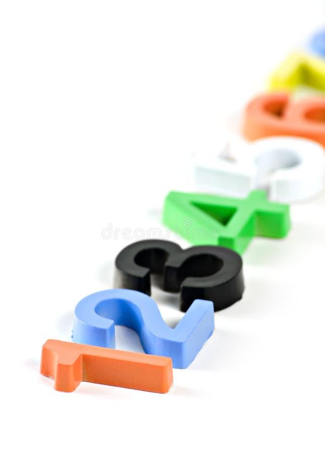 3d塑料五颜六色的编号 免版税库存照片