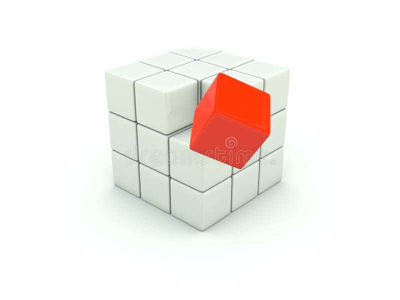 3d多维数据集查出的白色 向量例证