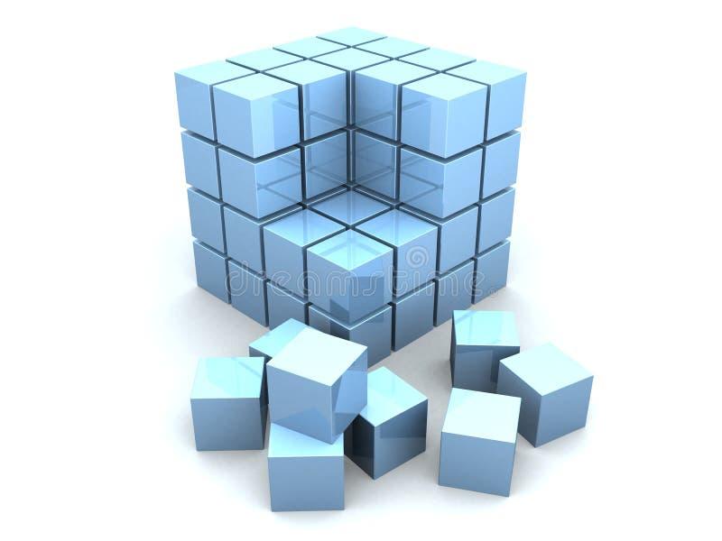 3d多维数据集 库存例证