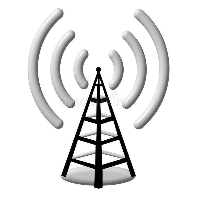 3d天线收音机 向量例证