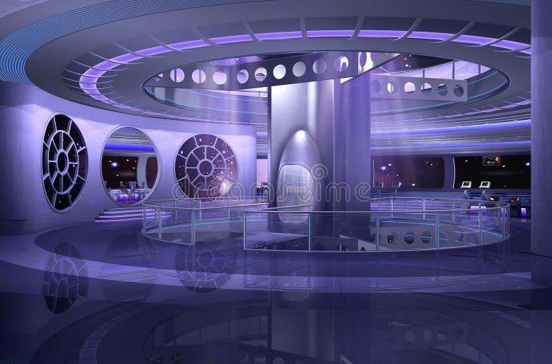 3d太空飞船 向量例证
