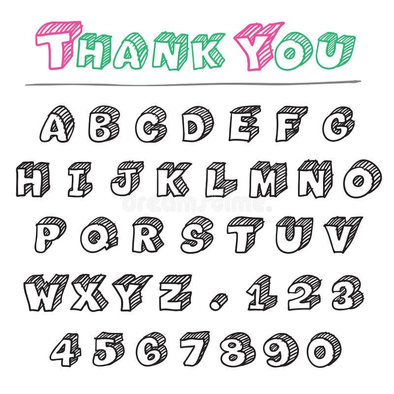 3d字母表 库存例证