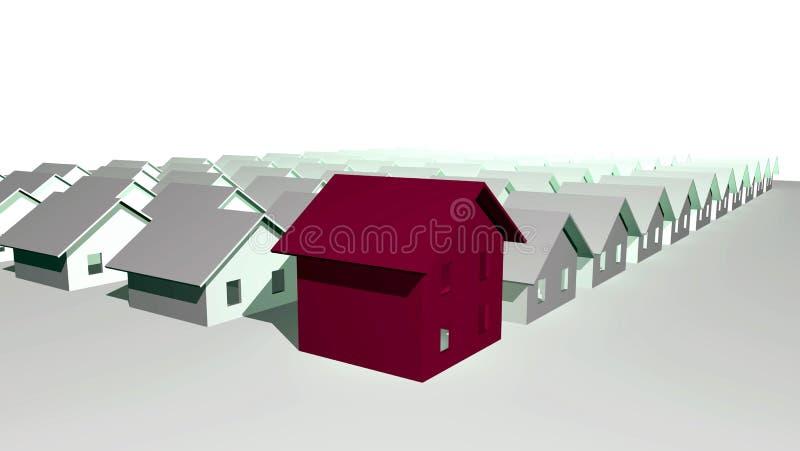 3d安置现代使住宅 向量例证