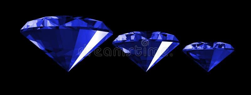 3d宝石查出的青玉 库存例证