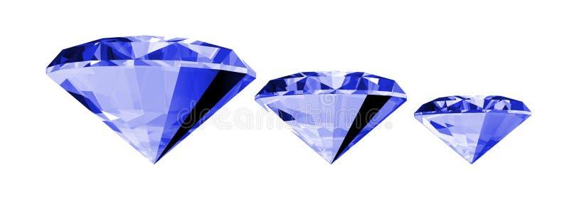 3d宝石查出的青玉 向量例证