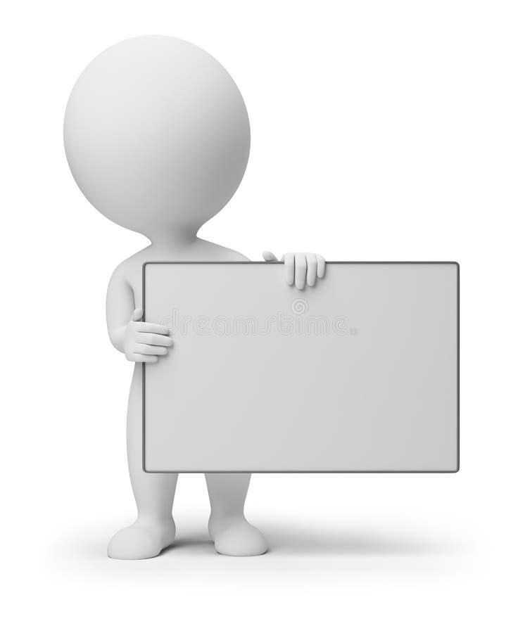 3d小董事会空的人员 向量例证