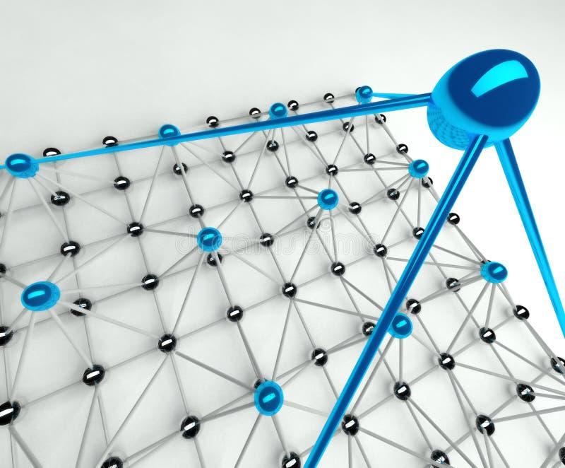 3d层次结构管理金字塔 库存例证