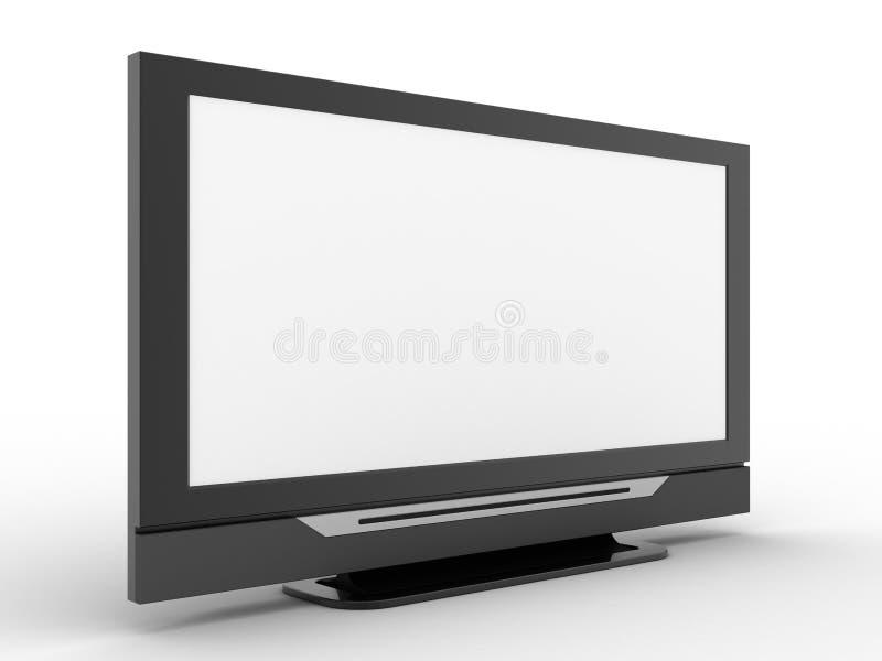 3d屏幕电视 库存例证