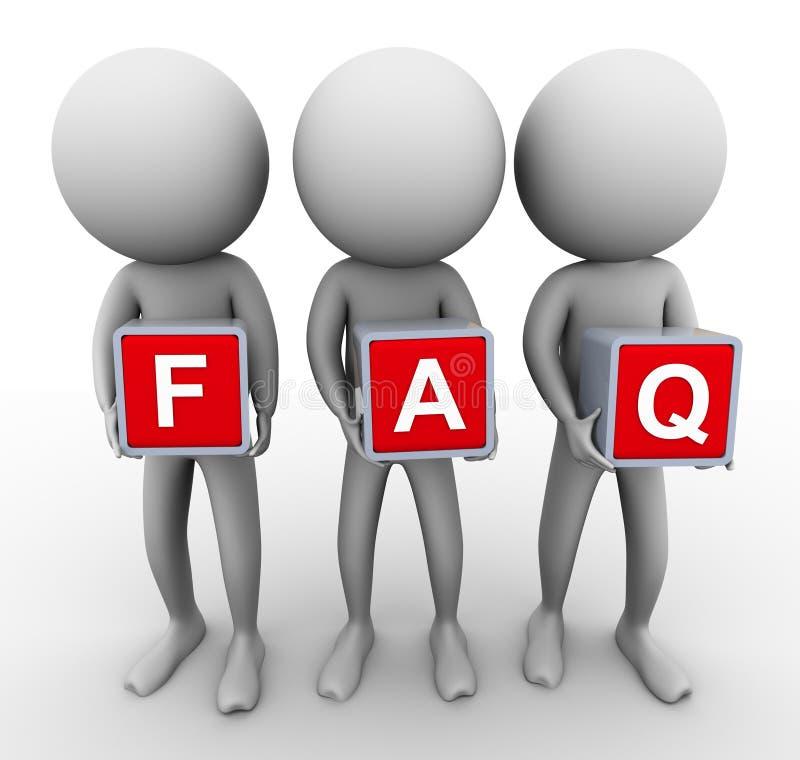 3d常见问题解答人 向量例证
