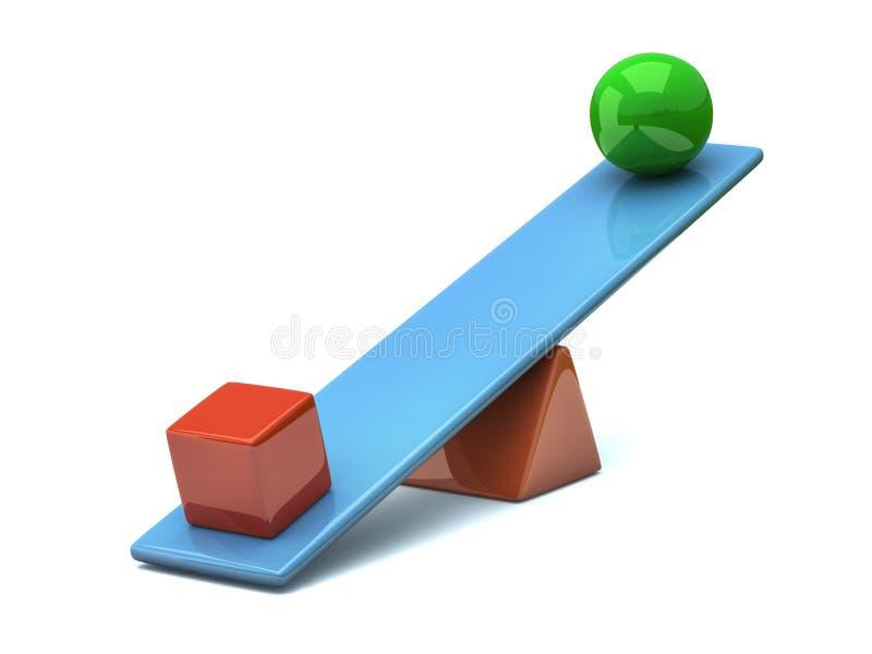 3d平衡概念 皇族释放例证