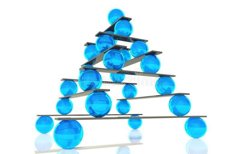 3d平衡球概念层次结构 库存例证