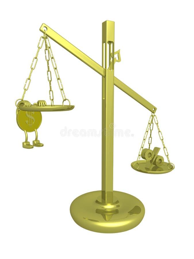 3d平衡被中断的图象 皇族释放例证