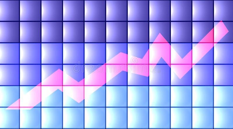 3d平面的图表 免版税库存图片